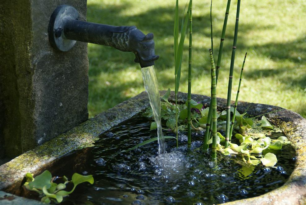 Brunnen teich for Brunnen wasserfall garten